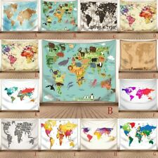 World Map Psychedlic Tapestry Wall Hanging Psychedelic Tapestry Art Room Decor