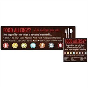 Allergen Window & Wall stickers (Qty 8)