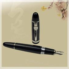 Jinhao 159 Black Broad Nib Heavy Fountain Pen Silver Trim Pen Roller Pen