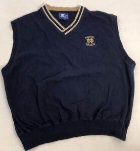Mens XXL Notre Damn Fighting Irish Cotton Sweater Vest By Starter