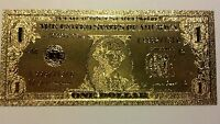 ~NEW-GOLD U.S $1 BANKNOTE REP.*FINE .999 FREE SHIPPING! UNIQUE FIND~