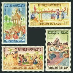 Laos 129-132, MNH.Michel 185-188. Folklore 1966.Ordination of Buddhist  X33683