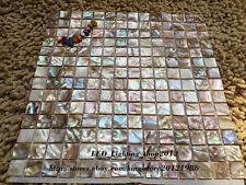 11pcs colorful pearl shell mosaic wall tile kitchen backsplash wall decoration