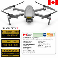 Drone Transport Canada Bundle - Labels + Registration Certificate ID card