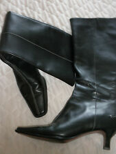 LADIES KITTEN HEEL BOOTS FROM M AND S  IN BLACK IN LOVELY CONDITION