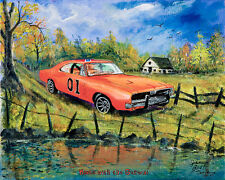 """Home with the General"" 2017 James Best Dukes of Hazzard Art Print - RE-RELEASE"