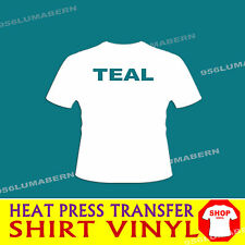 "12""x5 feet TEAL Heat Press thermal transfer T-Shirt vinyl Flexable"