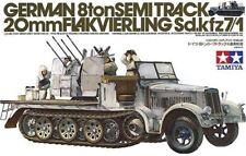 1/35 Tamiya German 8ton Semitrack 20mm Flakvierling Sd.kfz7/1 #35050