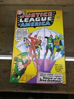 DC COMICS JUSTICE LEAGUE OF AMERICA #4 COLLECTIBLE 13 X 19 WOOD WALL SIGN