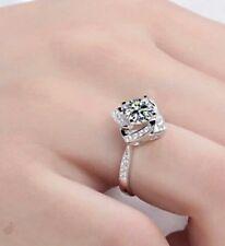 Square Shape Flower Rose Design Wedding Valentines Gift Ring Simulated Diamond L