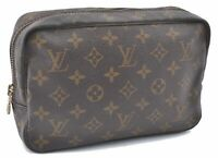 Auth Louis Vuitton Monogram Trousse Toilette 23 Clutch Hand Bag M47524 LV B1760