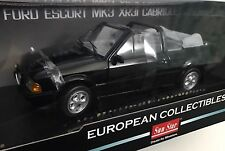 1984 Ford Escort MK3 Cabriolet Black NEW 1/18 Sun Star RARE !