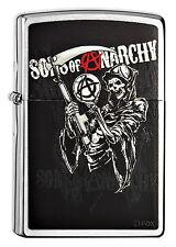Zippo en TU MECHERO Sons of Anarchy-Reaper refunfuñando parca SAMCRO SOA nuevo embalaje original