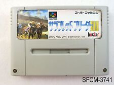 Thoroughbred Breeder 3 Super Famicom Japanese Import SFC Japan JP US Seller C