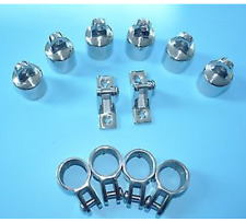 Stainless Steel Polished Set 3 Bow Bimini Top Fittings Fit 7/8'' -12PCS