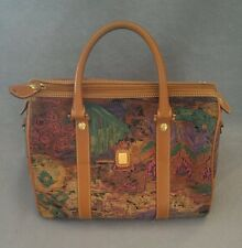 Vincent van gogh leather trim womens  handbag purse satchel multi color