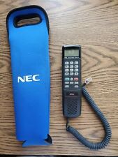 NEC Vintage Hand Held Cell Phone Cellular Mobile Telephone With Cable CH-1011-A