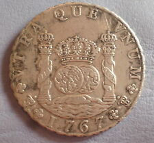BOLIVIA POTOSI COIN 8 REALES 1767 JR EX HERITAGE   XF DETAILS