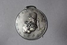 Faschings Medaiile signiert Gauklertag Münchner Kunstakademiker 1952 Medal Zinn