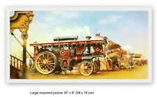 More details for splendid mounted picture burrell road locomotive golden gallopers on tour 1930s