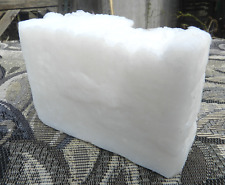 100% Organic Coconut Oil & Tussah Silk Castile Bar Soap. Fragrance Free Big Bars