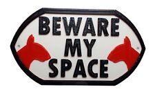 ENGLISH Bull Terrier Dog guardi dal mio spazio-Casa Giardino Cartello Placca