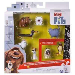 The Secret Life Of Pets - Mini Pet Figures - 8 pcs - Exclusive Mel & Tiberius