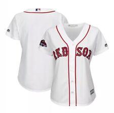 Women's Majestic White Boston Red Sox 2018 World Series Team Logo Jersey