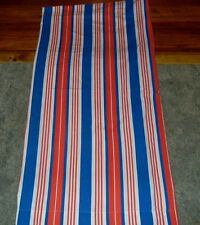 Mohawk Muslim Sheet Flat Red White Blue Stripes 108 In by 116 In Cutter Quilts