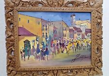 World's Most Beautiful Uruguay Original Signed Oil Painting - Framed