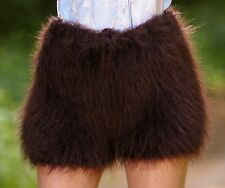 SUPERTANYA BROWN Hand Knitted Mohair Pants Fuzzy Underwear Fluffy Shorts ON SALE