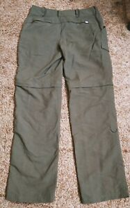 The NORTH FACE Women's Zip Off Convertible Hiking Outdoor Pants Sz 4 Olive