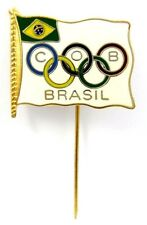 VINTAGE BRAZIL NOC OLYMPIC TEAM  PIN FOR MUNICH 1972 OLYMPICS ENAMEL RARE