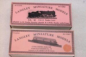 N Gauge Langley Loco Kits x 2 --- SR Q1 and GWR Parcels Railcar
