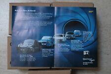 SHELL JAMES BOND 2009 scale 1/64 5 cars 007 série complète voiture auto model