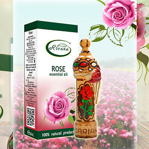 100% Pure Rose Organic Essential Oil Bulgarian Rose - Rosa damascene - 1 ml