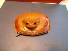 VINTAGE FROG HEAD SKIN LEATHER COIN PURSE WALLET EXCELLENT CONDITION