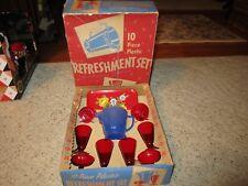 Vintage 1960's New Old Stock Ohio Art 10 Piece Plastic Toy Refreshment Set W/Box