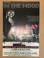 AFFICHE ANCIENNE ALICE KAY, IN THE MOOD, JAZZ TAP BALLETS , LYON DANSE