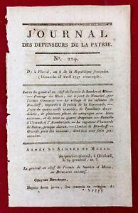 Deutschland 1797 Ukerath Attentirchen Neuwied Husaren Dierdorff Ney Kaiserreich