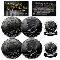 2018 Genuine BLACK RUTHENIUM JFK Kennedy Half Dollar 2-Coin Set BOTH P & D MINT