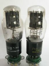 2 matched 1950+/- NU/Philco 5V4G rectifier tubes- Solid Black P,Large [ ] Getter