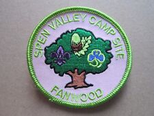 Spen Valley Camp Site Girl Guides Cloth Patch Badge L5K D