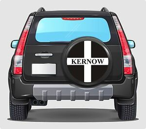Spare Wheel Cover 4x4 Graphic Sticker KERNOW FLAG  55CM APPLY ANY FLAT SURFACE
