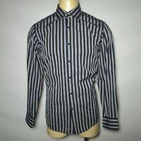 Indigo Palms Tommy Bahama Blue Gray White Casual  Shirt  Mens L/S -Large L