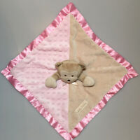 Baby Gear Silly Monkey Lovey Security Blanket Plush Pink Brown Minky Dot Satin