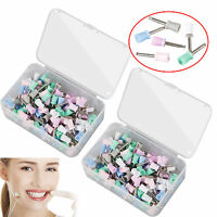 200pcs Dental Rubber Prophy Cup polishing cup of latch type 6 Colors