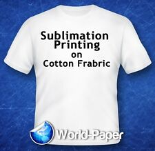 Sublimation Printing on Cotton T-Shirts Light Fabric YL 11x17 50 Sheets :)