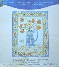 MERCERIE BRODERIE  CANEVAS A FAIRE DMC -  BOUQUET DE COQUELICOTS