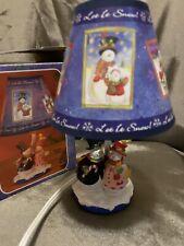 Christmas Snowmen Minature Night Lamp